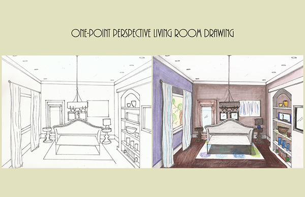 One-Point Perspective Drawing on Pantone Canvas Gallery