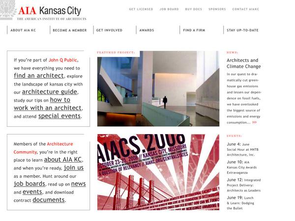 Aia Kansas City Web Design On Behance