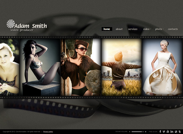 Producer HTML5 Photo & Video Gallery Template on Behance