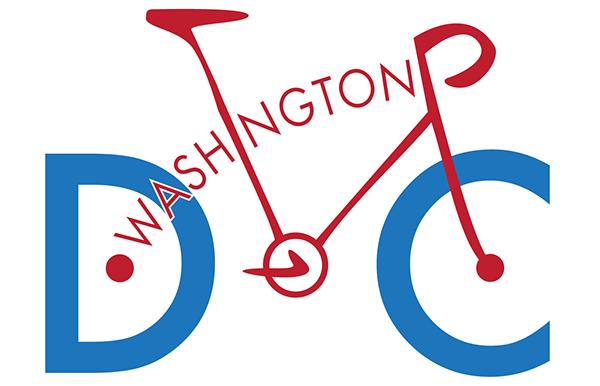 Washington dc City Logo Washington Cyclist dc Logo on
