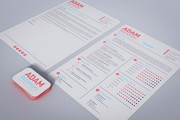 my new and improved resume on behance