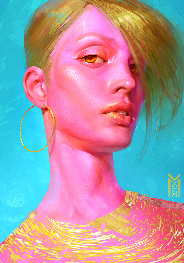 bubble gum girl by Maria Poliakova