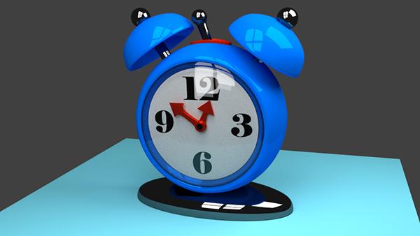 Голубой будильник из урока