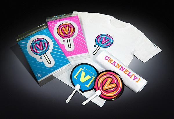 Channel [V] (Asia) Lollipop T-shirt and Paper Fan on Pantone