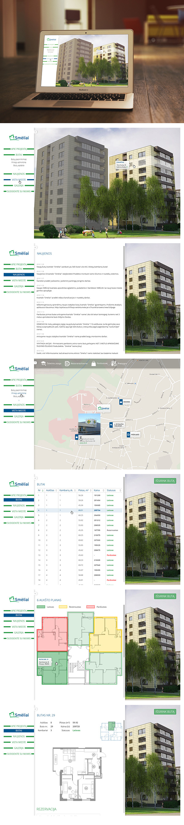 real estate for sale UI ux