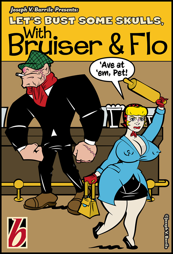 Character Design Jobs Nyc : Bruiser and flo comic book cover on behance