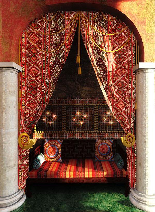 Квартира в арабском стиле /arabian style on behance.