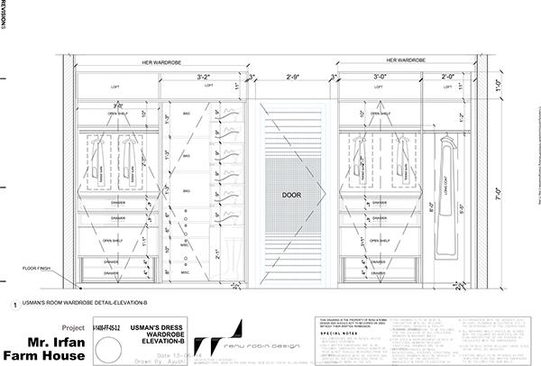 Wardrobe Plan Elevation Section : Furniture detail drawings on behance