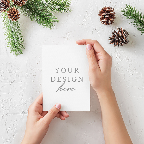 Free PSD Christmas Card Mockup on Behance