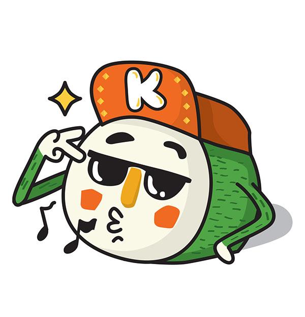 Kimbab Boy Emoticons For Kakaotalk On Behance