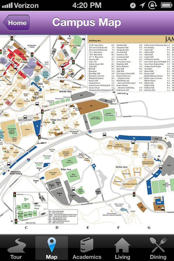 James Madison University JMU app ios