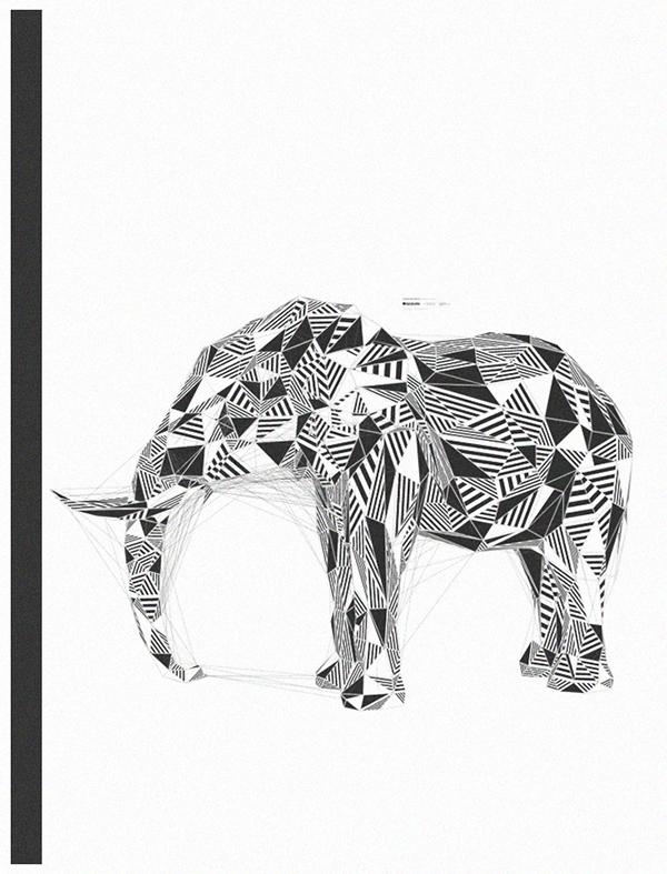 polygon Polygons plexus animal animals Konstruktiv Subsquare generative Triangles Meshes duck elephant wolf wolves horse