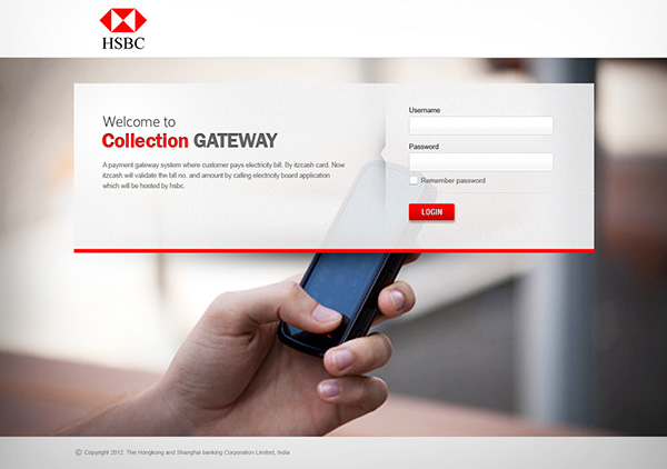 HSBC web application for mobile payments on Behance