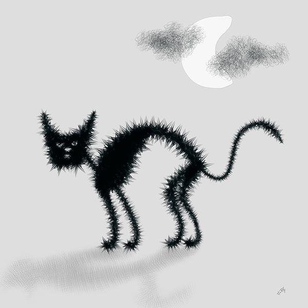 Bristling Cat