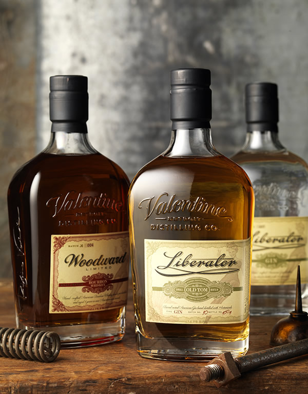 Woodward Vodka And Liberator Gin, Valentine Distillery On Behance