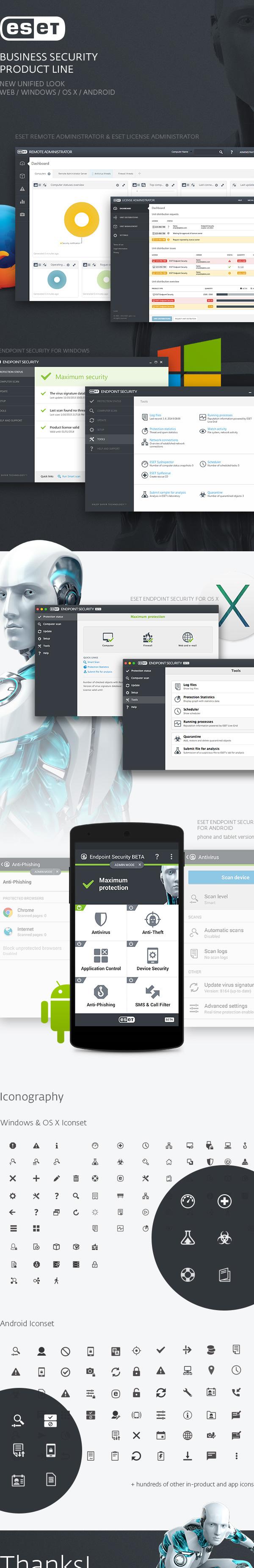 ESET,business,redesign,icons,mac,os x,windows,application,Program,android,security,robot,antivirus,flat,app
