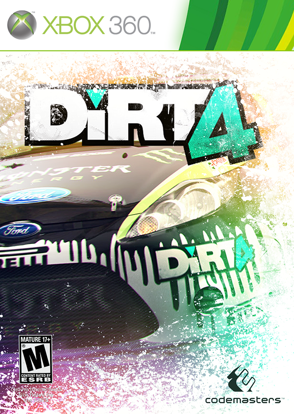 dirt 4 xbox cover design on behance. Black Bedroom Furniture Sets. Home Design Ideas