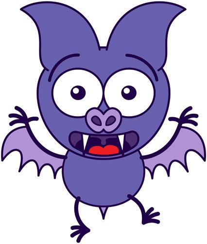 Little bat feeling scared