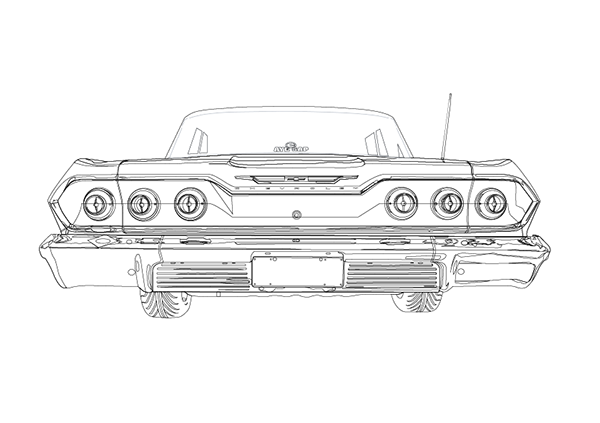 u0026 39 63 chevrolet impala illustration on behance