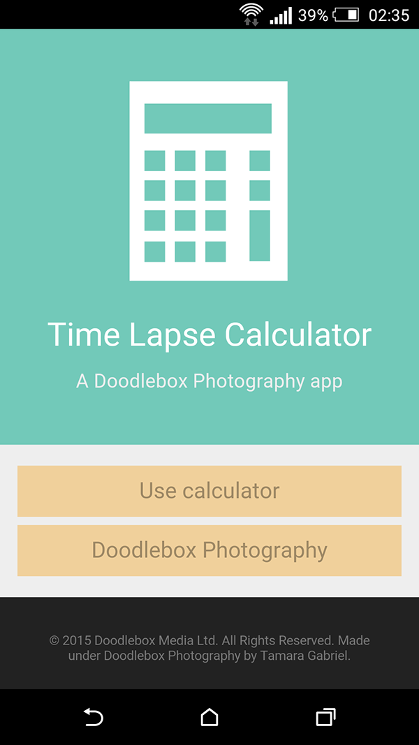 Time Lapse Calculator app on Behance