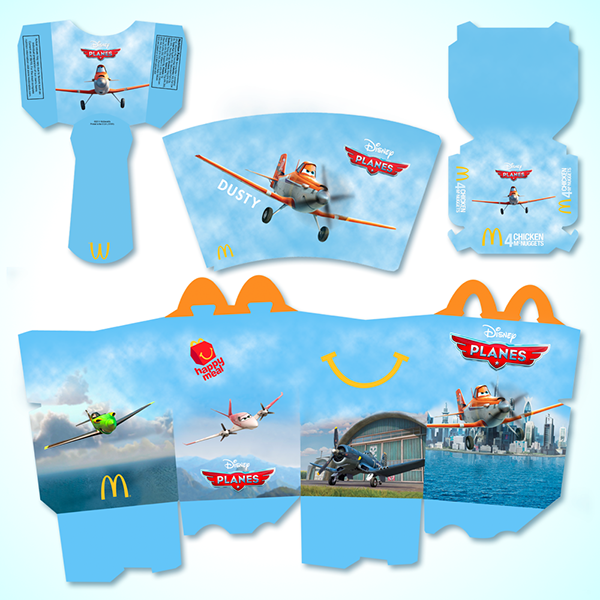 These Are Our Template Designs For The Boxes And Cups Which Includes Happy Meal Box Chicken McNuggets Fry Cup