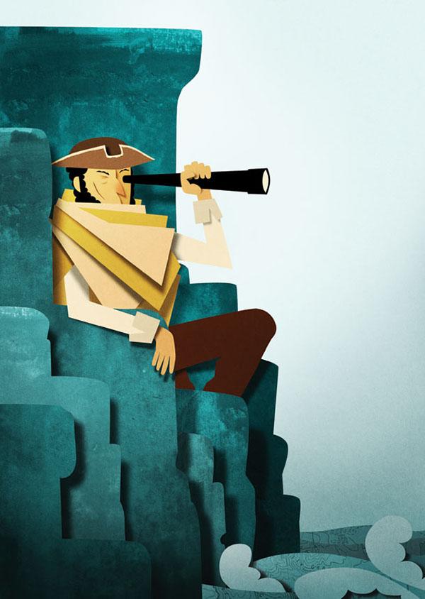 pirates treasure island book illustrations
