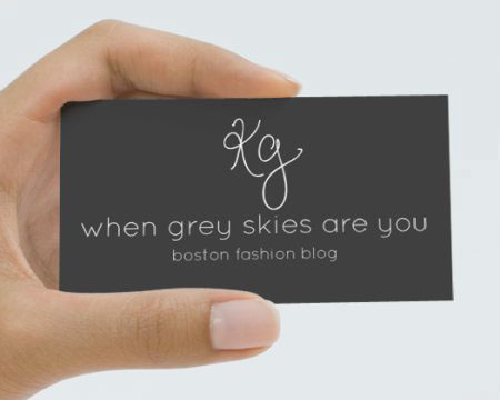 Fashion blog logo and business card on behance i photograph for kathleen of when grey skies are you and we came up with this logo design which i turned into a business card i had her use a pen tablet colourmoves