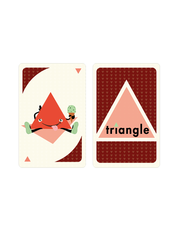 shapes flashcards circle square triangle kids game Character color