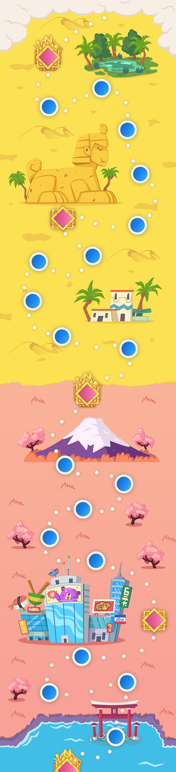 Drwton mobile game world map on behance gumiabroncs Images