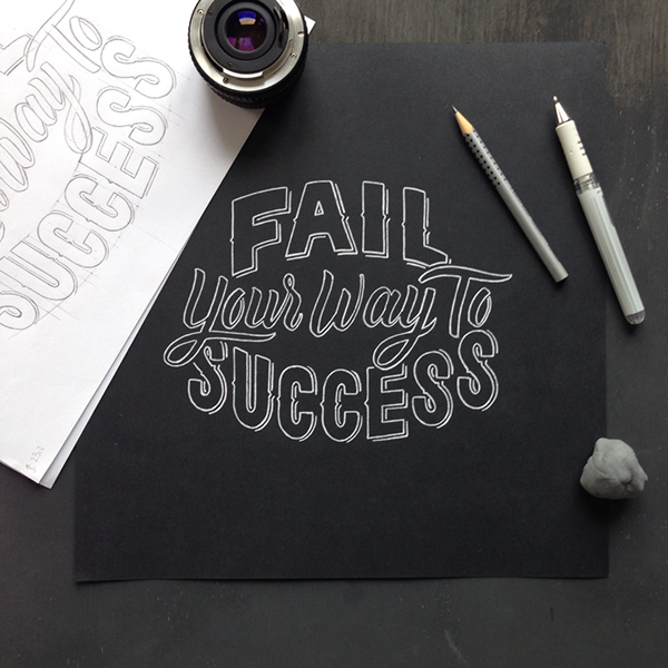 Fail Your Way to Success - Laura Dilema | 25 Beautiful Examples of Motivational Quote Typography // the PumpUp Blog