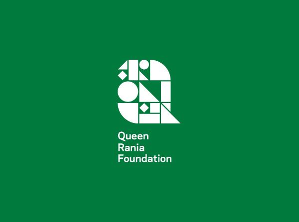 Queen Rania Foundation identity on Pantone Canvas Gallery