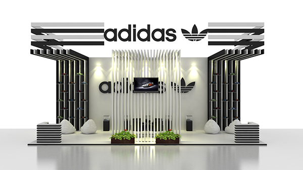 Ceder el paso soborno Contratación  Adidas Exhibition stand on Behance