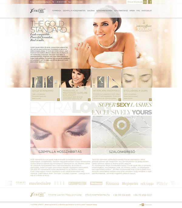 xtreme lashes webdesign