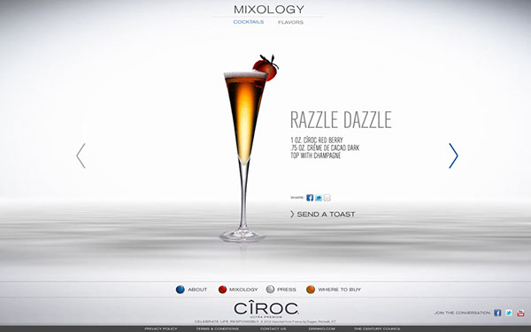 CIROC Vodka Website on Behance