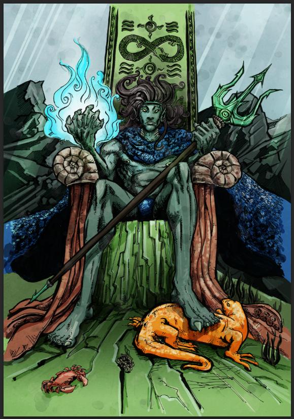 78 Tarot Astral By Kayti Welsh Kickstarter: 78 Tarot: King Of Wands On Pantone Canvas Gallery