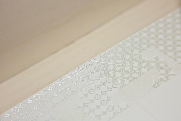 Louis vuitton  osaka Invitation papercraft silkscreen Diecut foil pantone dry print origami