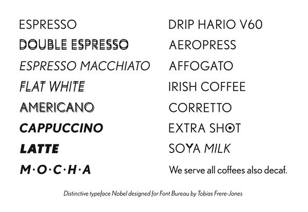 cafe identity public space menu espresso bar HORECA Lumir Kajnar Year 2013 Coffee cafeteria prague Czech logo