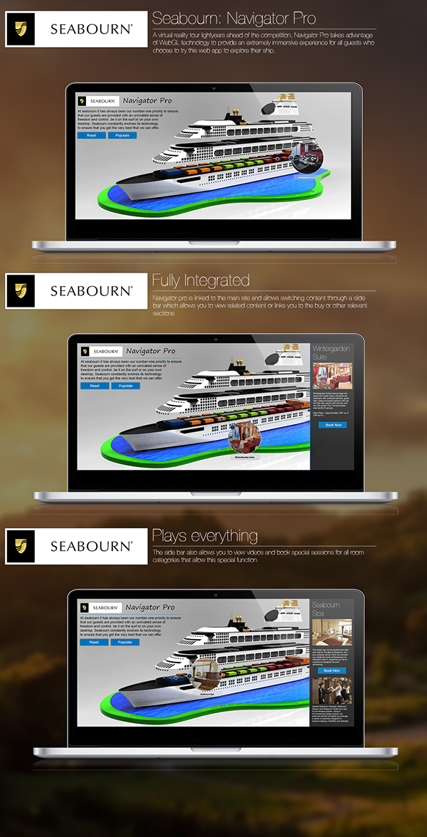 Seabourn Website Concept (academic) on Student Show