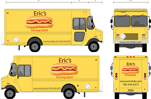 Eric 39 s hot dog stand on behance for Design food truck online