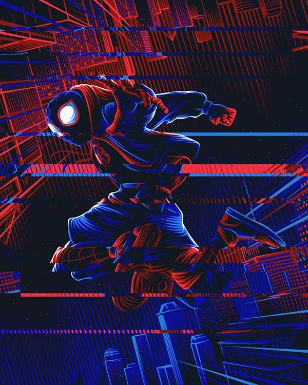 spiderman into the spiderverse on behance