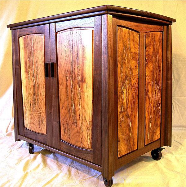 Walnut Amp Hickory Storage Cabinet On Behance
