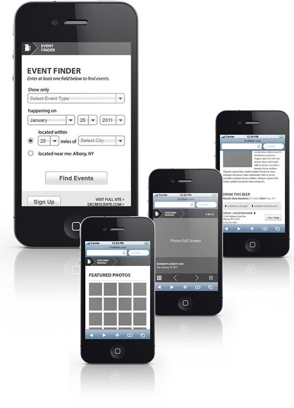 beer mobile web design Mobile Wireframes mobile app design