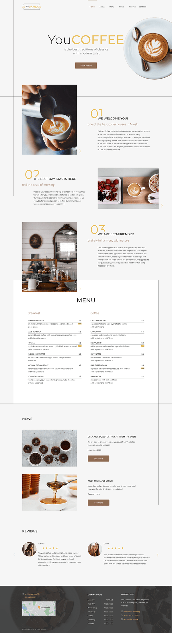 YouCOFFEE - Landing page