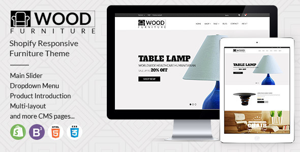 parallax shopify template for furniture decor store on behance. Black Bedroom Furniture Sets. Home Design Ideas