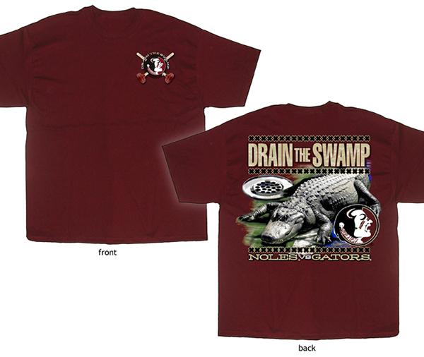 Fsu drain the swamp t shirt design on behance for Florida gators the swamp shirt