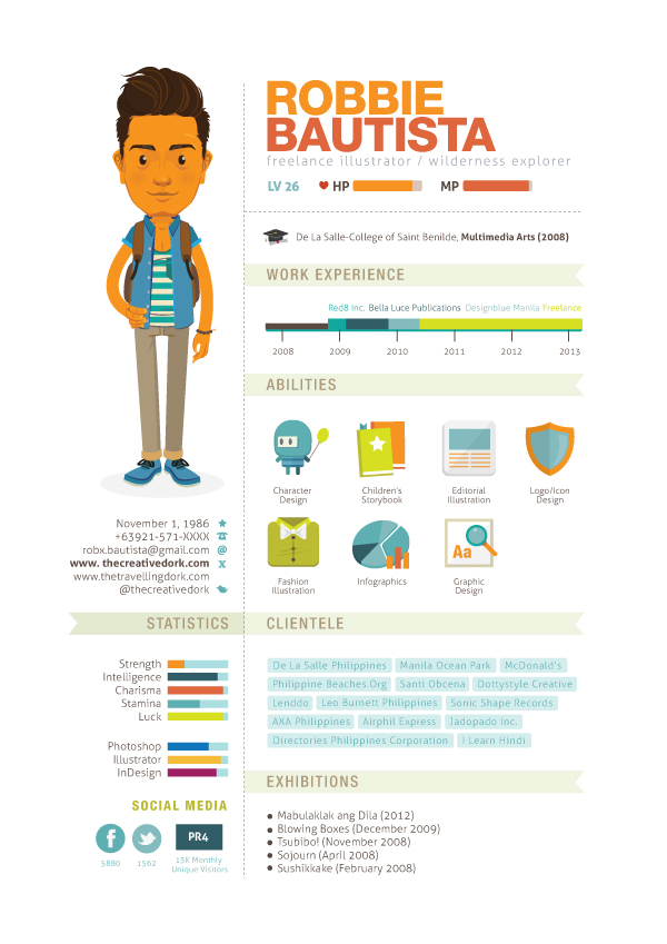 how to create an infographic resume that will land you a job