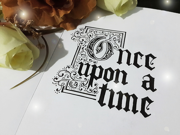 Once Upon A Time Calligraphy Once Upon a Time on Be...
