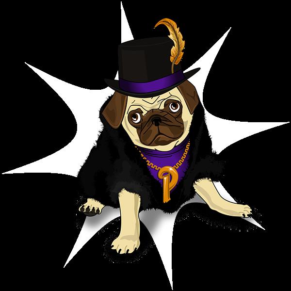 Pug pimp THUG coat Tophat