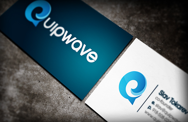 logo business card water monogram talk bubble social media