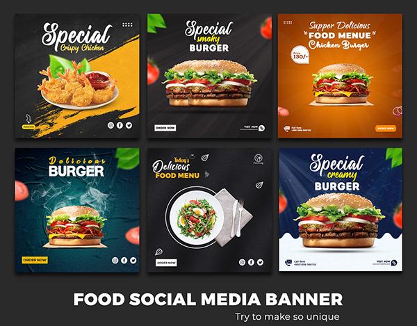FOOD SOCIAL MEDIA BANNER